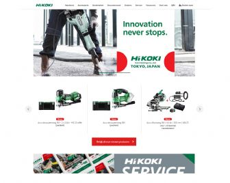 Bezoek de website van HiKOKI Power Tools Nederlands BV